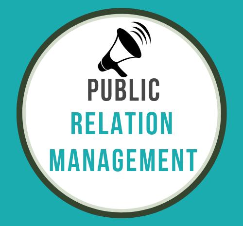 PR Management poster ,PR means- public realtion